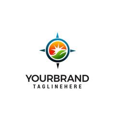 gps landscape logo design concept template vector image
