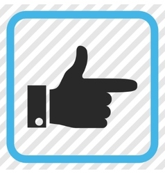 Hand Pointer Right Icon In a Frame vector