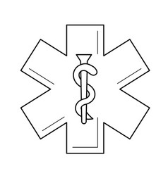 health care symbol line icon vector image