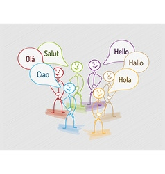 Hello in many languages vector