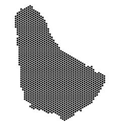 Honeycomb barbados map vector