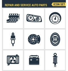 Icons set premium quality of repair and service vector image