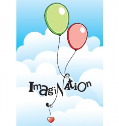 imagination vector image