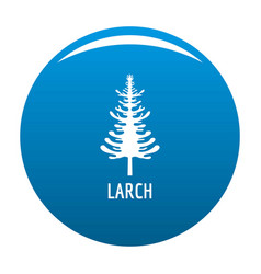larch tree icon blue vector image