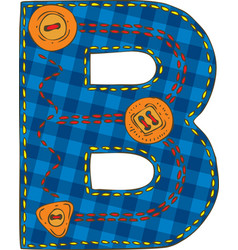Letter b in patchwork style vector