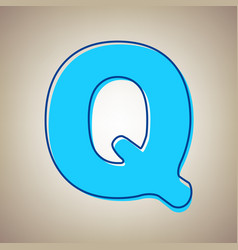 Letter q sign design template element sky vector