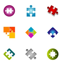 logo design elements set 43 vector image