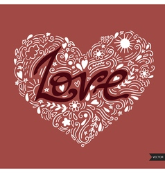 Love postcard Lettering Love Ink Modern brush vector image