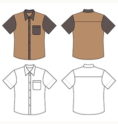 mans buttoned shirt vector image