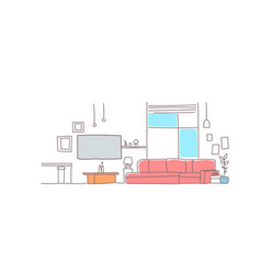 modern living room interior empty house furniture vector image