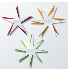 Modern star banners background vector