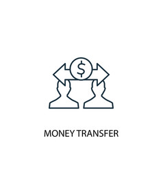 money transfer concept line icon simple element vector image