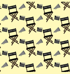 Movie director stuff pattern vector