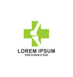 orthopedic logo template design emblem de vector image