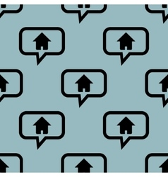 Pale blue home message pattern vector