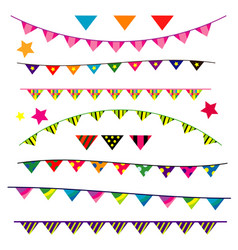 party flag banner on white background vector image