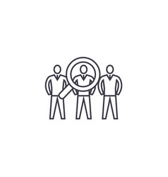 performance team line icon sign vector image
