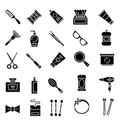 Personal care product icons set vector