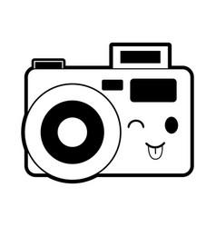 photographic camera kawaii style icon image vector image