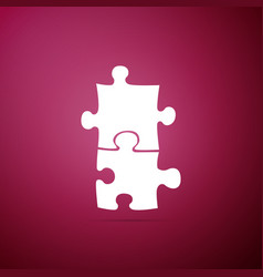 piece of puzzle icon isolated on purple background vector image