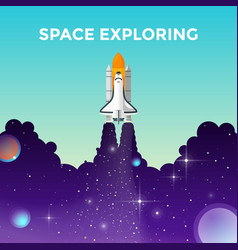 projects template space exploring vector image