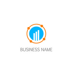 round orbit connection business logo vector image