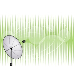 Satellite Dish on Green Background vector image