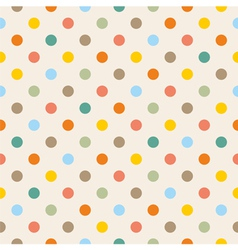 Seamless colorful polka dots pattern vector