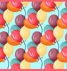 seamless pattern with colorful bunches vector image