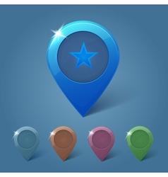 set map pins vector image
