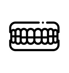 Set of false teeth stomatology sign icon vector