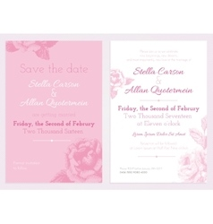 set of invitation and save the date cards vector image