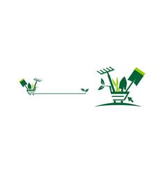 shop gardening online set vector image
