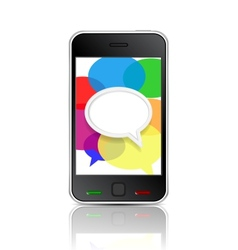 smart phone message icon vector image