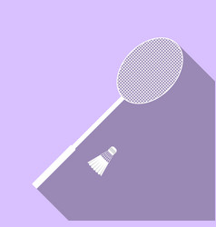 sports objects for badminton vector image