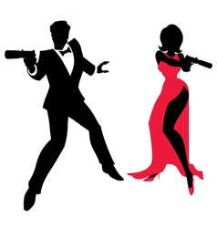 Spy Couple vector image