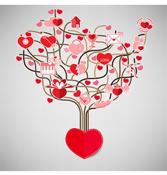 The Tree Heart Valentines day Love icon vector image