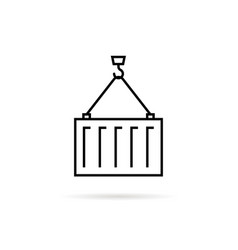 thin line cargo container icon vector image