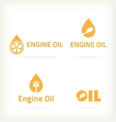 Three characters selling motor oil vector