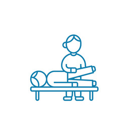 traumatological examination linear icon concept vector image