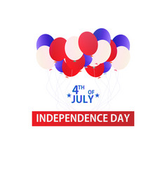 usa independence day 4 th july banner with vector image