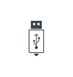 Usb related glyph icon vector
