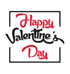 Valentine day black and red image vector