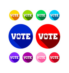 various vote icon colors graphic design vector image
