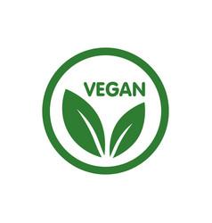 vegan bio ecology organic logo vector image