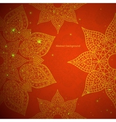 Vintage background with ethnic ornament vector image