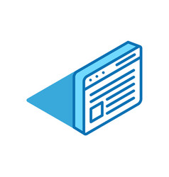 web page isometric icon social networks best vector image