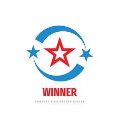 winner progress - logo template concept vector image