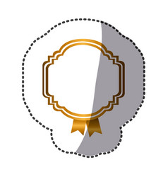 yellow emblem with symbols inside icon vector image