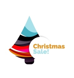 Abstract Christmas sale banner design with blank vector image